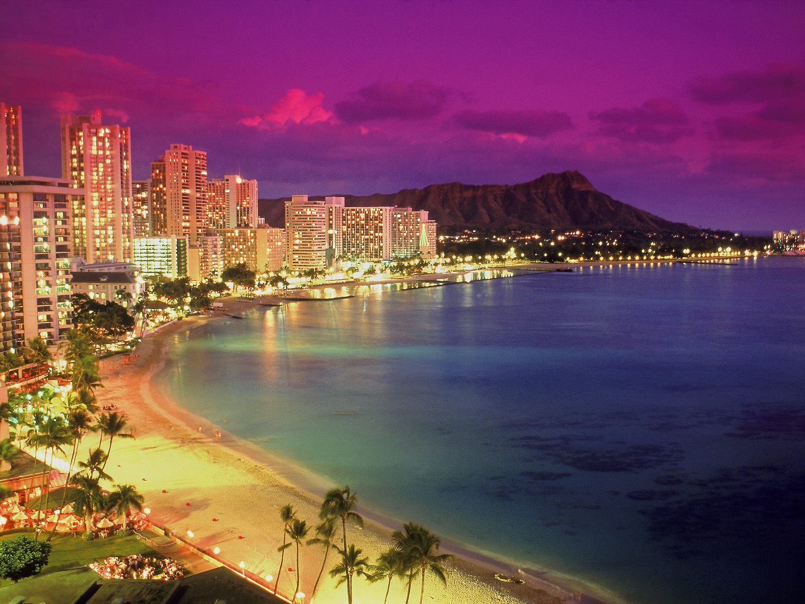 Waikiki at Dusk, Hawaii